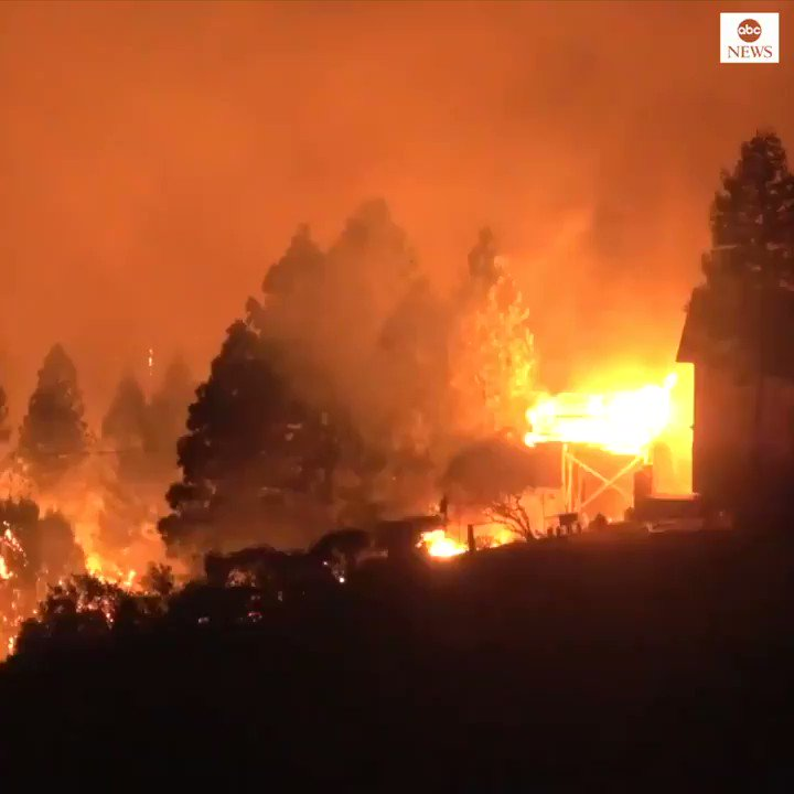 Glass Fire threatens homes in Napa County's Angwin as record-breaking heat continues in California. https://t.co/AMAz9aEjnM https://t.co/JNSJeAkl18