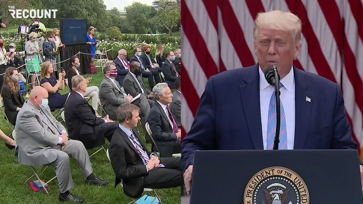 For the second time today, Trump ignores all questions about his taxes. https://t.co/PgtKGidS8B