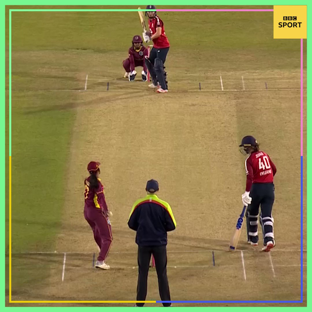 When youre trying to back up your mate... 🙈 Watch the #ENGvWI T20 highlights: 🗓 Tonight ⏰ 23:30 BST 📺 @BBCTwo or later on @BBCiPlayer here 👉 bbc.in/2GhwnJu #bbccricket #WomensCricketMonth