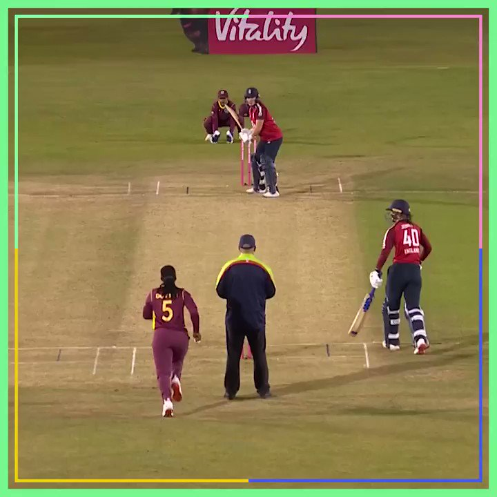Carnage. Watch the #ENGvWI T20 highlights: 🗓 Tonight ⏰ 23:30 BST 📺 @BBCTwo or later on @BBCiPlayer here 👉 bbc.in/2GhwnJu #bbccricket #WomensCricketMonth