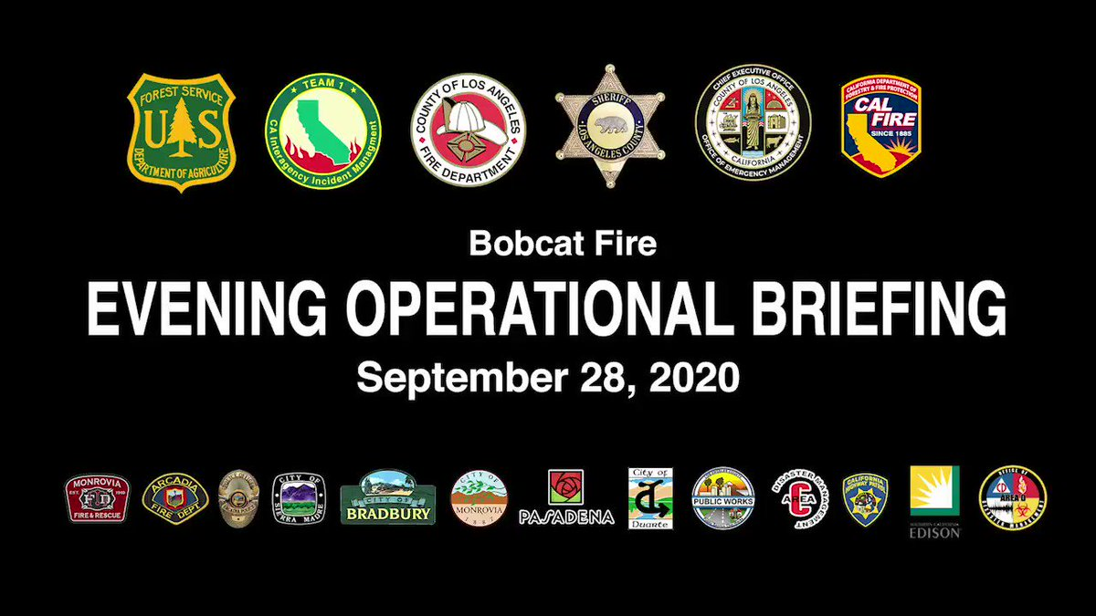 Image posted in Tweet made by L.A. County Fire Department on September 29, 2020, 6:20 am UTC