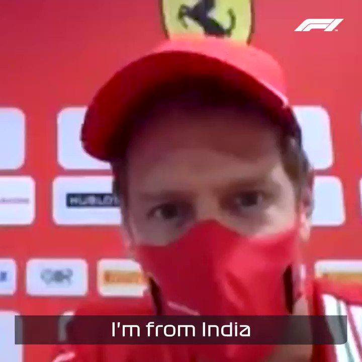Seb's Indian Grand Prix tales 🙂  An absolute gem from the recent virtual autograph sessions at last weekend's Russian Grand Prix! 🐘 🇮🇳  #F1 https://t.co/h4yyIh8Bh5