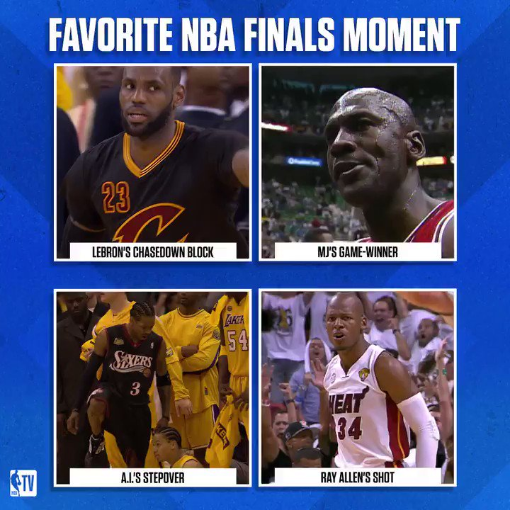These #NBAFinals plays are iconic🔥  Which is your favorite? https://t.co/0UM3Rk9sxs