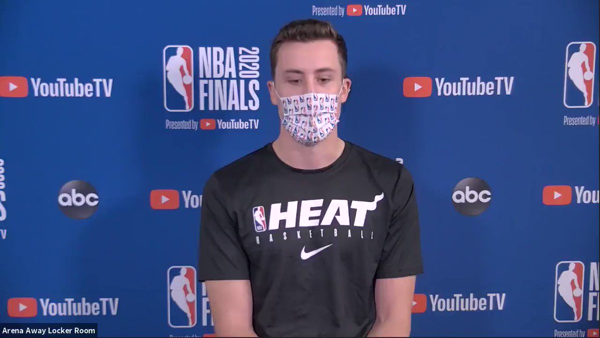 From not getting minutes in high school to playing in the NBA Finals, Duncan Robinson (@D_Bo20) knows how to push through adversity.  #NBAFinals presented by @YouTubeTV Media Availability  Game 1: Wednesday - 9:00pm/et, ABC https://t.co/4fR7GKeul0