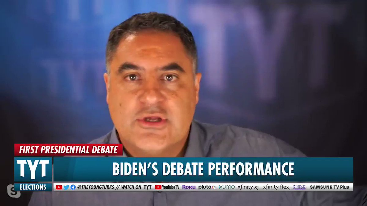 .@cenkuygur on how @JoeBiden should have responded to @realDonaldTrump when he brought up grades during #presidentialdebate The reality is, youre hiding your grades not just from college but from high school. You must have finished dead last. #tytlive TYT.com/GO