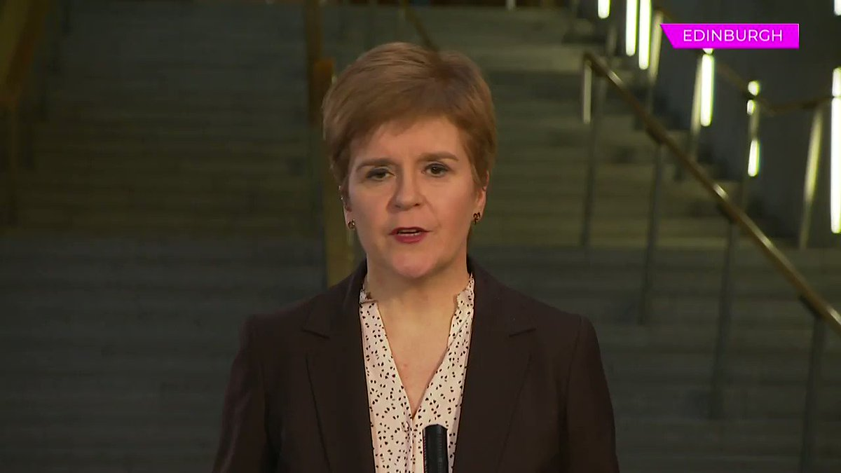 """""""The hard truths are better than the false assurances"""" When asked if Scottish exams would take in place in the summer @NicolasSturgeon tells @pestonthat she could not be certain they would 'go-ahead' and contingency plans are being put in place #peston"""