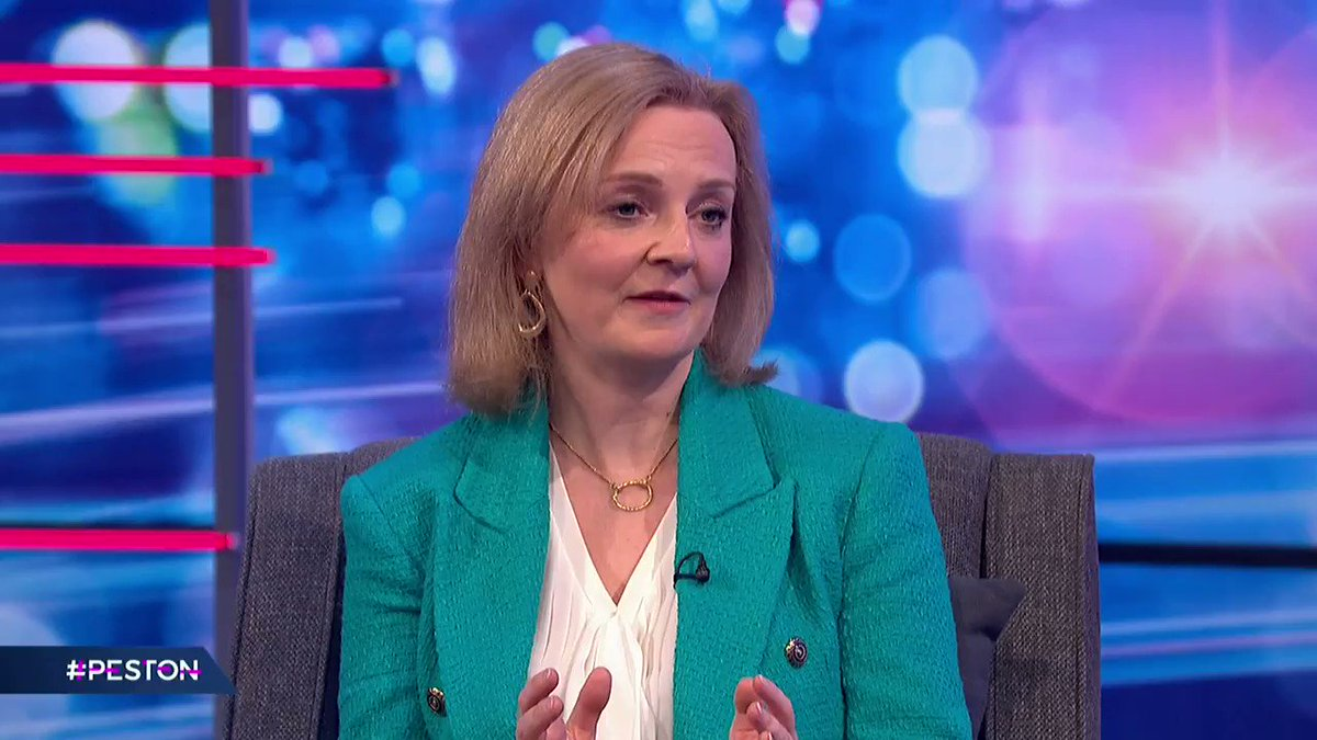 """When questioned about why she opposes the Trans community being able to legally self identify, @trussliz tells @peston that """"we need checks and balances in the system"""", and that she's aiming to make the process """"kinder and more straightforward"""" #Peston"""