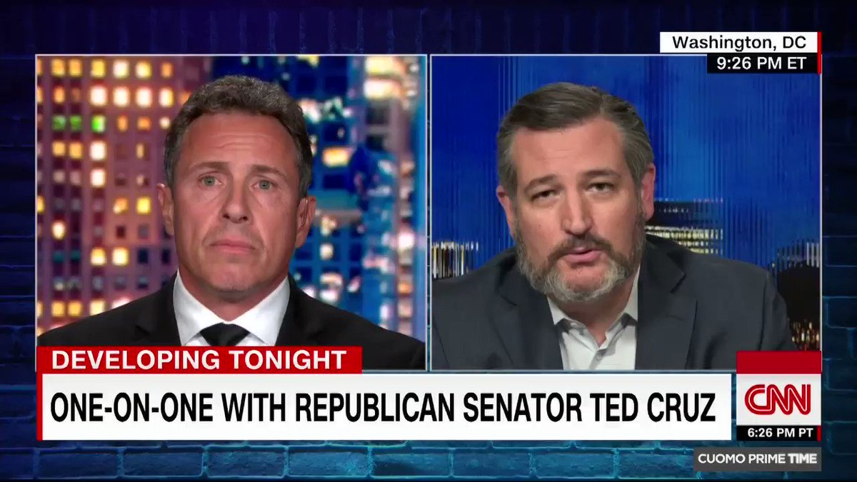 Ted Cruz Slams Chris Cuomo: Your Brother's Actions Killed Nursing Home Residents