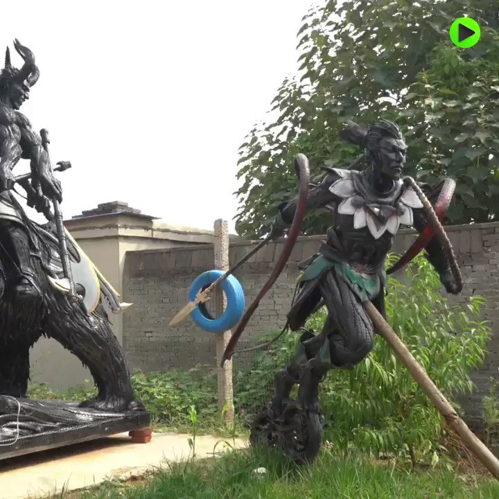 Rubber Statues | Chinese artist makes sculptures out of discarded tires https://t.co/wmYAH5vQHT