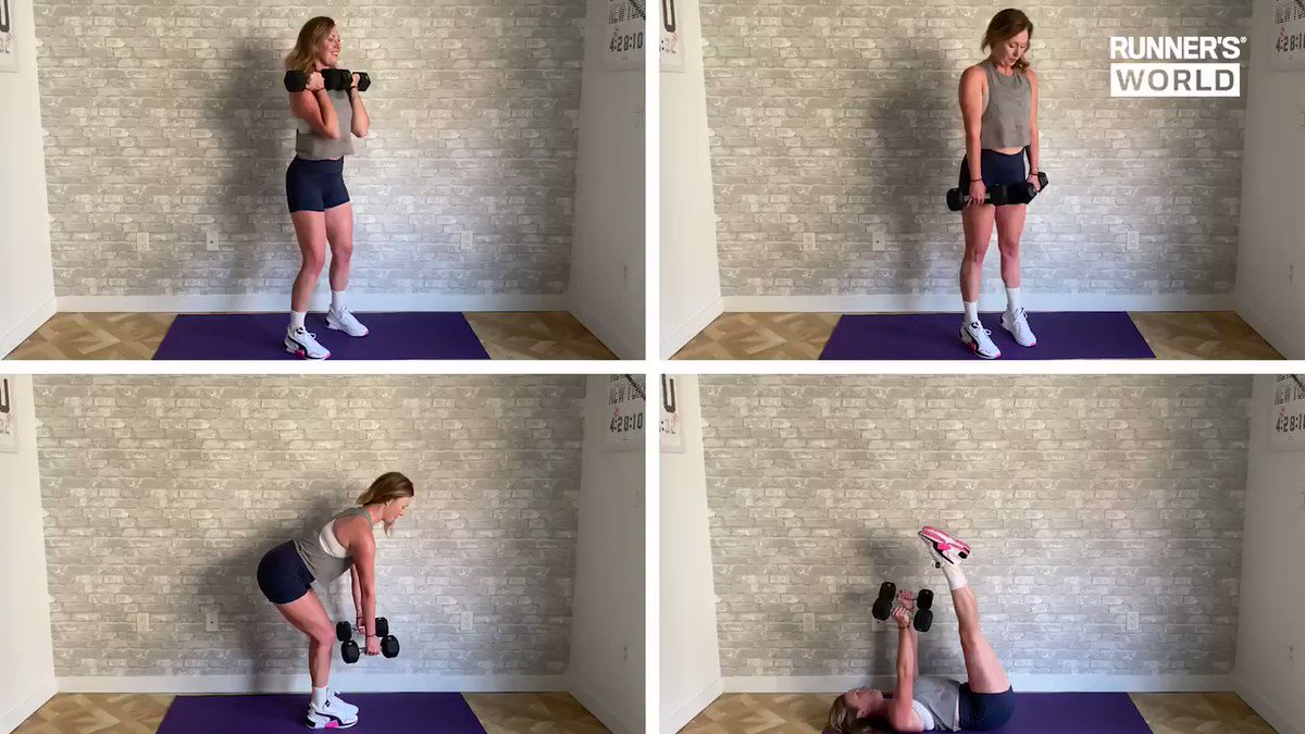 Image for the Tweet beginning: 20-minute total-body dumbbell workout