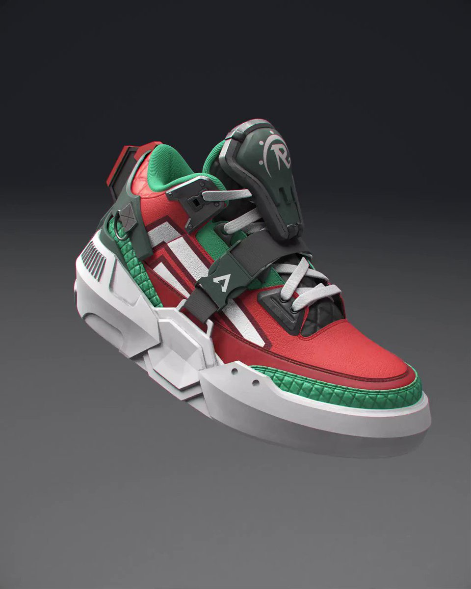 We've partnered with @RTFKTstudios to bring some of Rampart's finest to life with the Rampart's Rarities Week 1 Giveaway! Drop that shoe size below. 👇  To enter: 👟Follow @PlayApex 👟RT this tweet  NO PURCHASE NEC. 18+ Ends 10/13/20 #RespawnGiveaway 📄:
