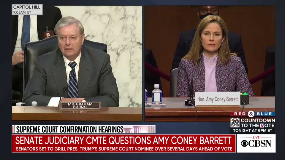 Graham tells Barrett: I have never been more proud of a nominee...This is history being made, folks. This is the first time in American history that weve nominated a woman who is unashamedly pro-life and embraces her faith without apology. And shes going to the Court