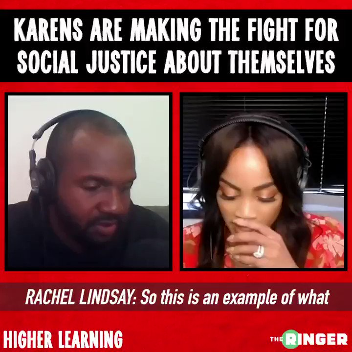 Karens, why must you always make it about you? Join @TheRachLindsay and @VanLathan as they discuss this topic and more on an all-new 'Higher Learning': therin.gr/rG9GHeG