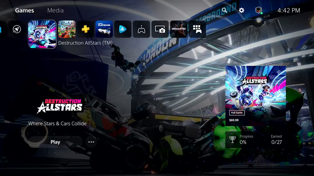 Here's your first look at PS5's user experience. Take the full tour in 4K: play.st/3lNLx8x