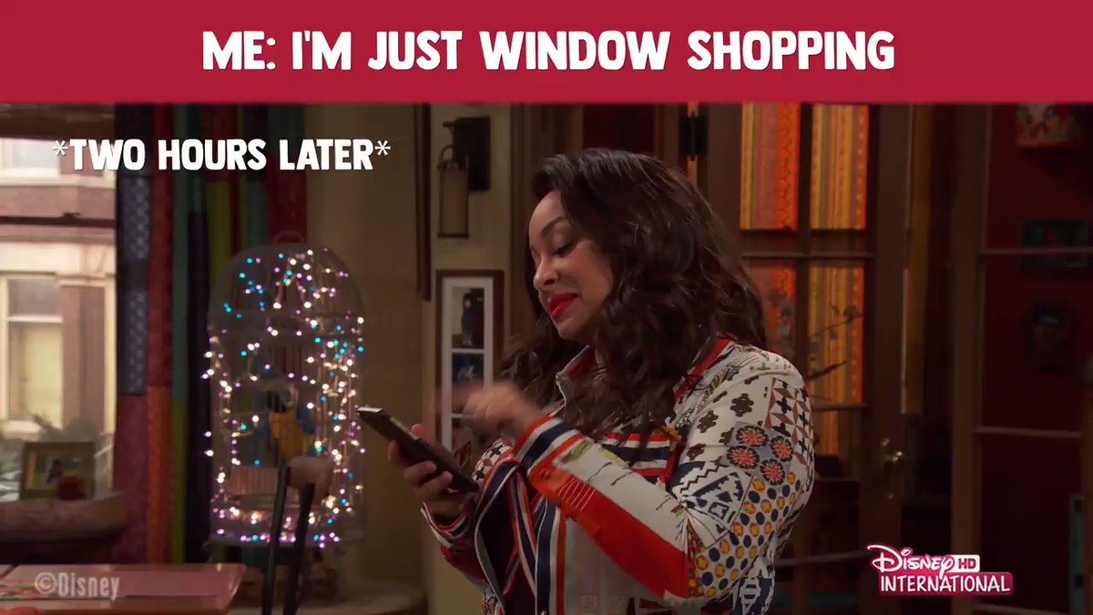 When did add to cart become so damaging for us!🛒👝👠👗 @DisneyIntHD (🎞: #RavensHome)