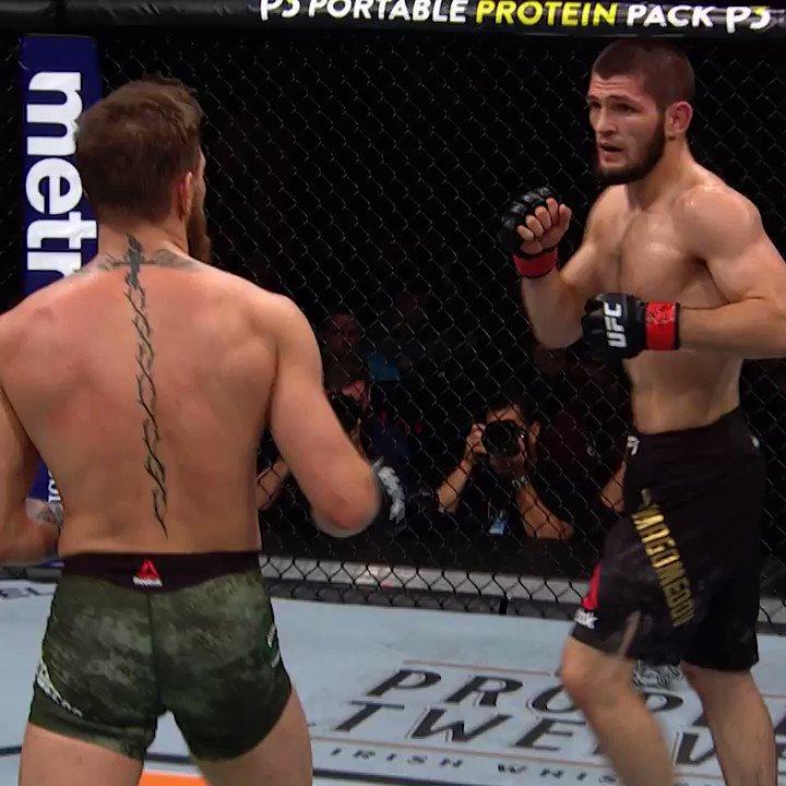 DROPPED.  Don't sleep on the striking of @TeamKhabib 🦅  [ #UFC254 - LIVE on #ESPNPlus PPV: https://t.co/sO1r9pAolh ] https://t.co/ALucV5YT4k