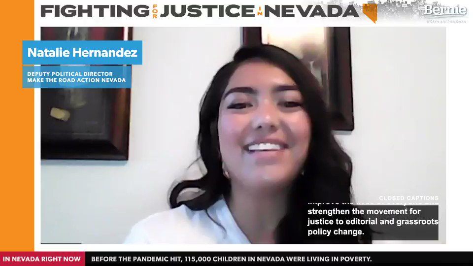 We have so much at stake. Not only the health and safety of our families, but as a woman, my right to choose what's best for my body, the rights of immigrants, and the rights of our LGBTQ community. –Natalie Hernandez, Deputy Political Director of Make the Road Action Nevada