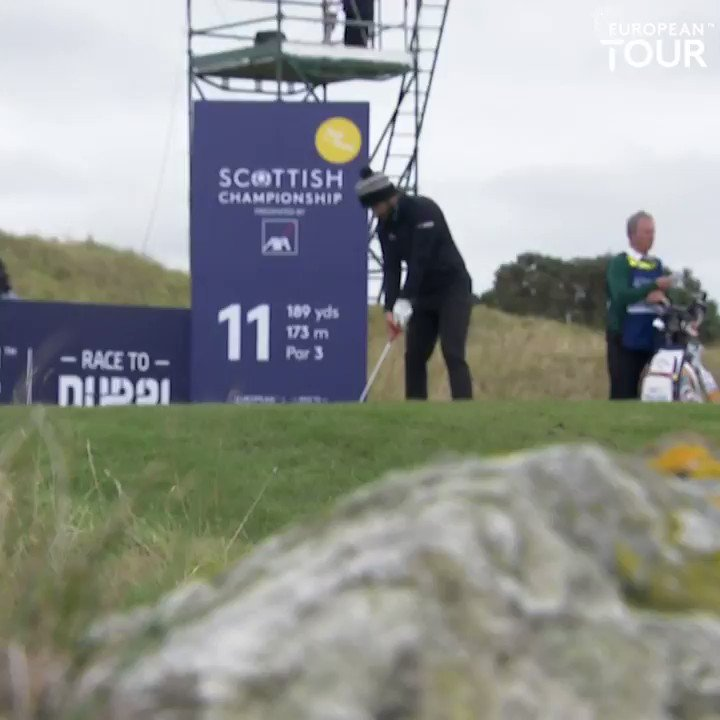 Wow inches from the hole!! 👀 #AXAScottishChamps