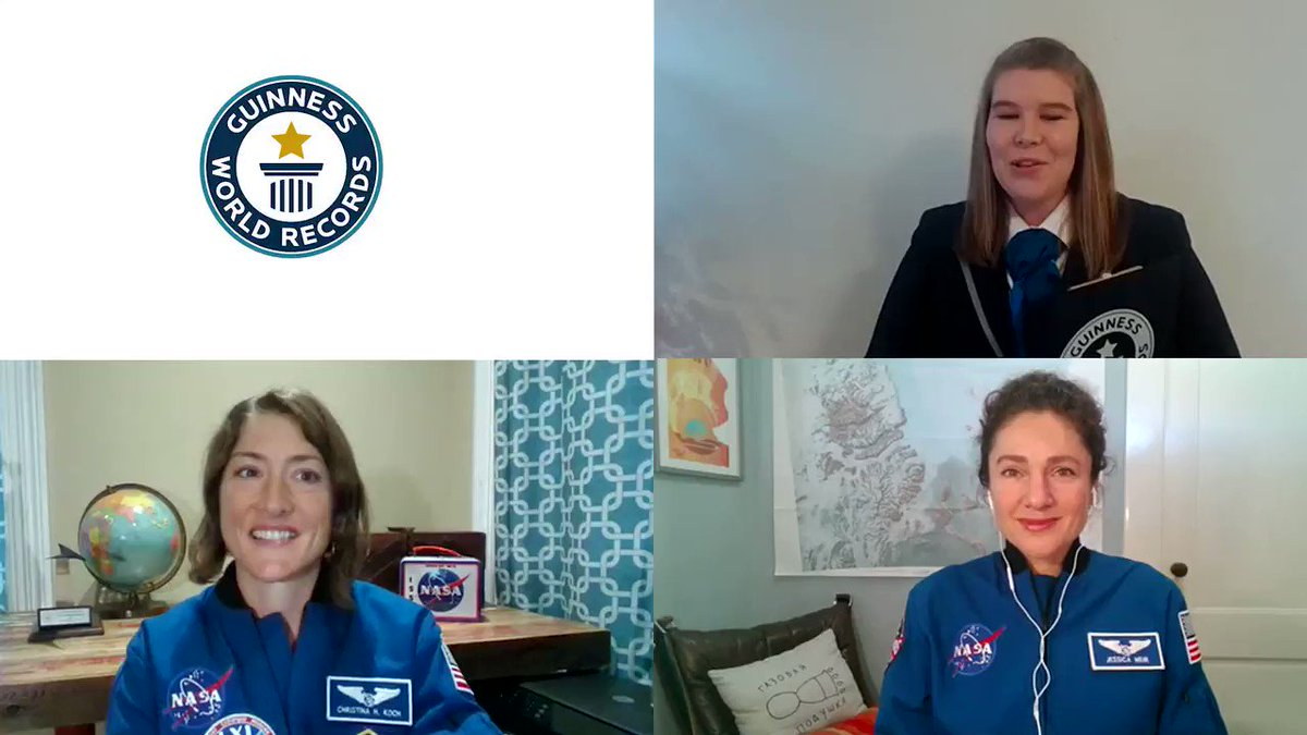 Last year, @Astro_Jessica and @Astro_Christina made history by performing the worlds first all-female spacewalk, and we took a minute to officially recognize their record-breaking achievement for women in space