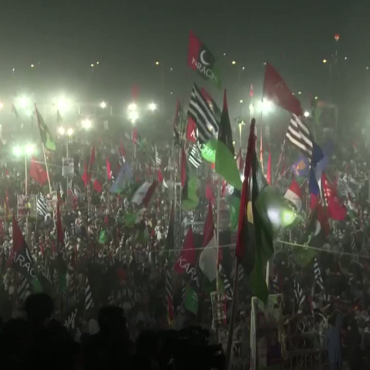 Pakistan's opposition parties held a massive rally to demand Prime Minister Imran Khan's resignation, whom they accuse of being installed by the country's powerful military. https://t.co/0mKtwlHYyI