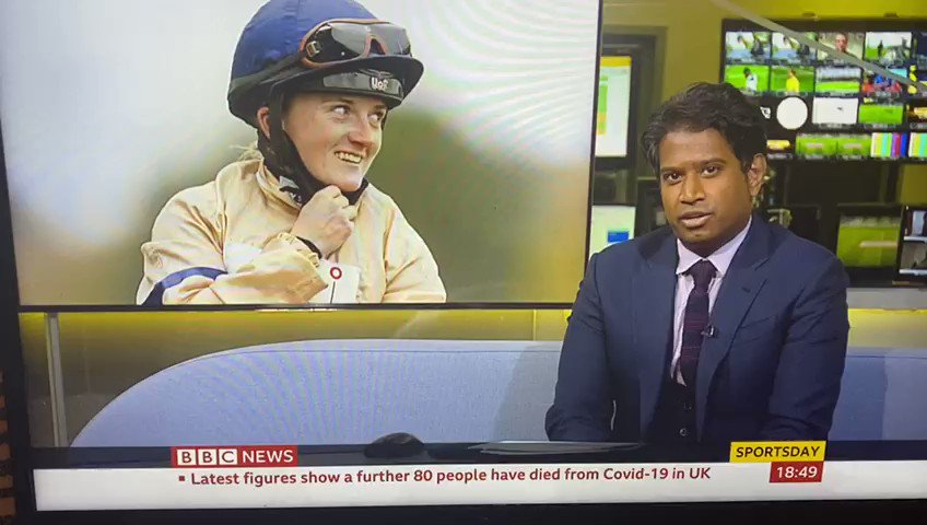 .@HollieDoyle1 on @BBCNews tonight talking about her incredible Saturday at #ChampionsDay ⭐️