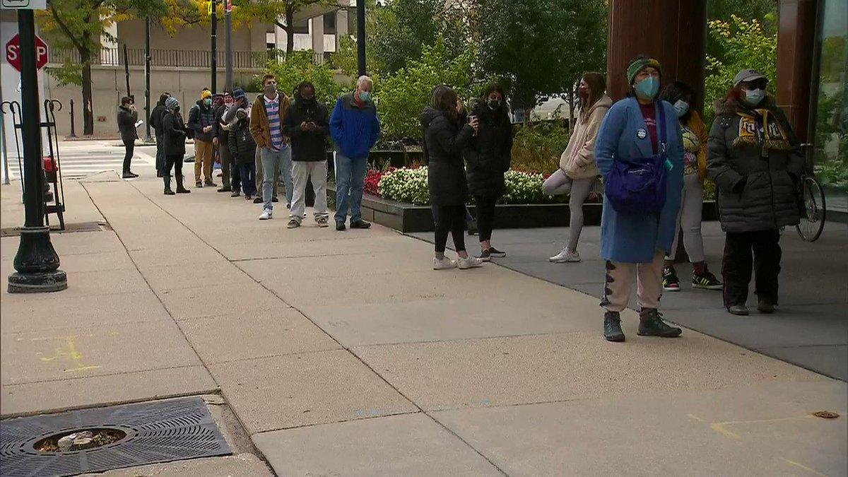 WATCH: Milwaukee, Wisconsin opens in-person early voting.   https://t.co/igNahUoNEZ