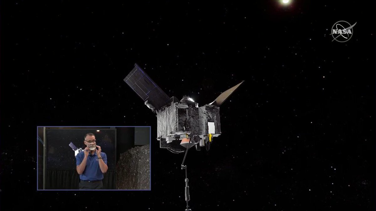 🔥 Matchpoint Burn completed. Weve got about 10 minutes before contact with the asteroid surface. @OSIRISREx is maneuvering to match the speed and spin of asteroid Bennu before its final descent to the surface. #ToBennuAndBack