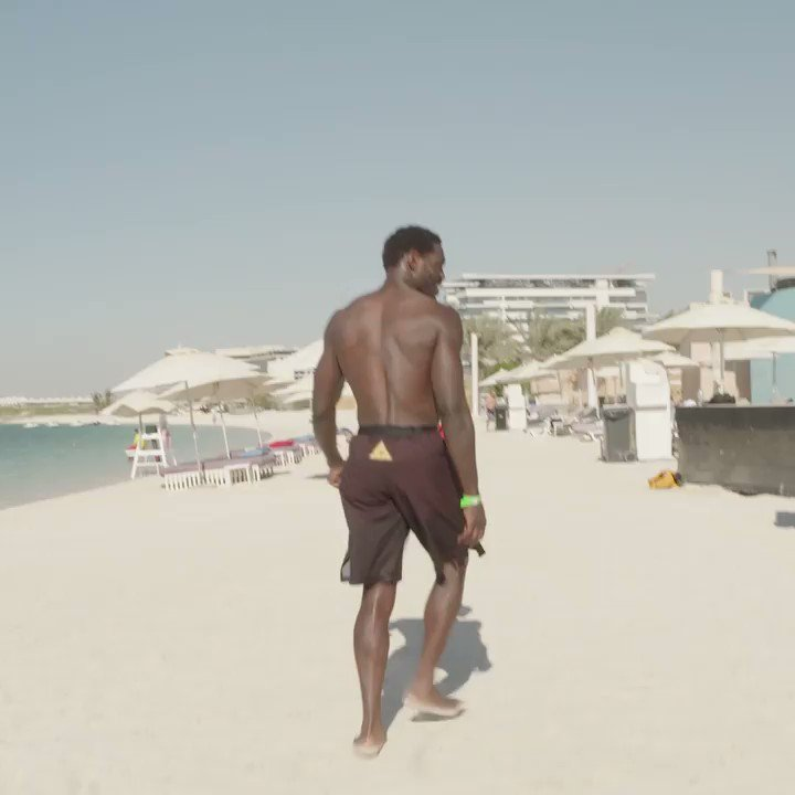 Off to the beach 🏝   Ep. 2 of #UFC254 Embedded is on the sands of Fight Island:   [ #InAbuDhabi | @VisitAbuDhabi ]