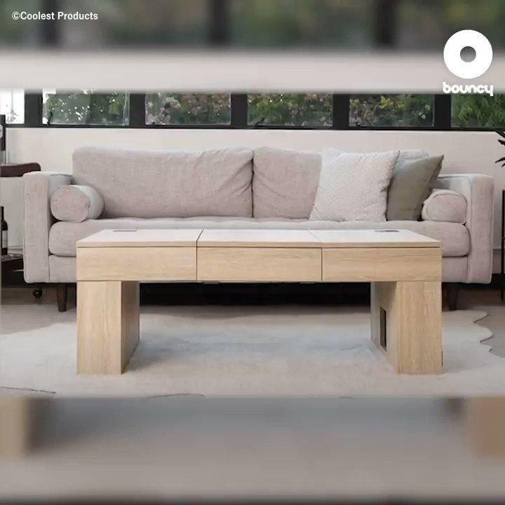 隠れたギミック満載!機能的なおしゃれローテーブル「Coolest Coffee Table」 by Coolest Products詳しくはこちら👉#おしゃれ #テーブル