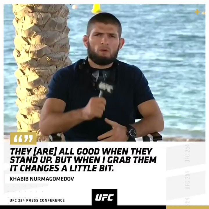 Khabib keeps it real 💯   What will we see from the champ this weekend?   [ #UFC254  - Oct 24 - Main Card at 2pmET ] https://t.co/wedq4N4Of9