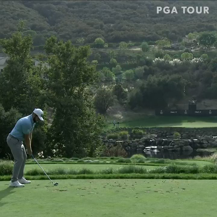 Replying to @PGATOUR: Shot of the day at the scenic par-3 15th. 🎯  @TyrrellHatton moves into a tie for the lead.  #QuickHits