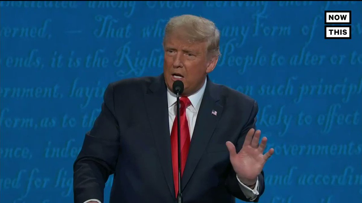 Trump became the first candidate to get his mic turned off for going long on health care #Debates2020
