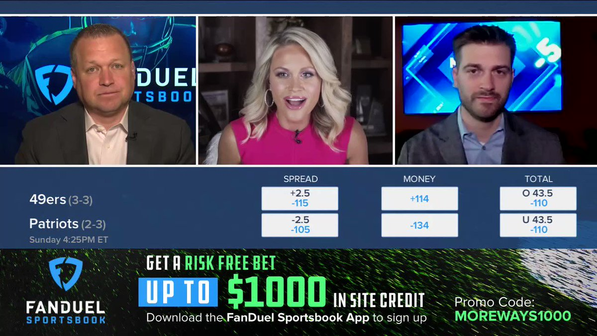 """""""They're 5-0 against the spread in their last 5 outside of San Francisco"""" 💰  @ThePoniExpress and @icecoldexacta joined @LisaKerney to share their picks for Patriots-49ers on @MoreWaysToWinTV 📺 https://t.co/we3ZvcAWTW"""