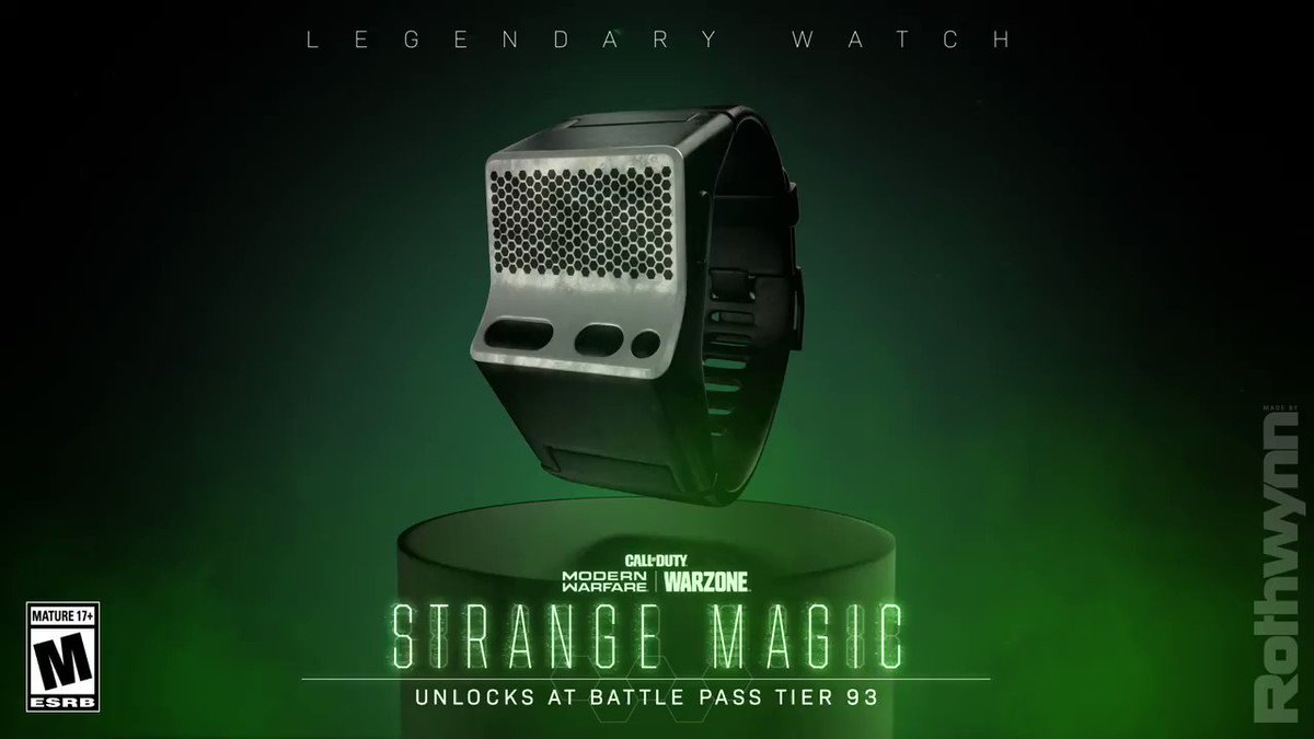 Time to make them disappear. ⌚ Reach Tier 93 of the Battle Pass to unlock the Strange Magic Legendary Watch for #ModernWarfare and #Warzone.