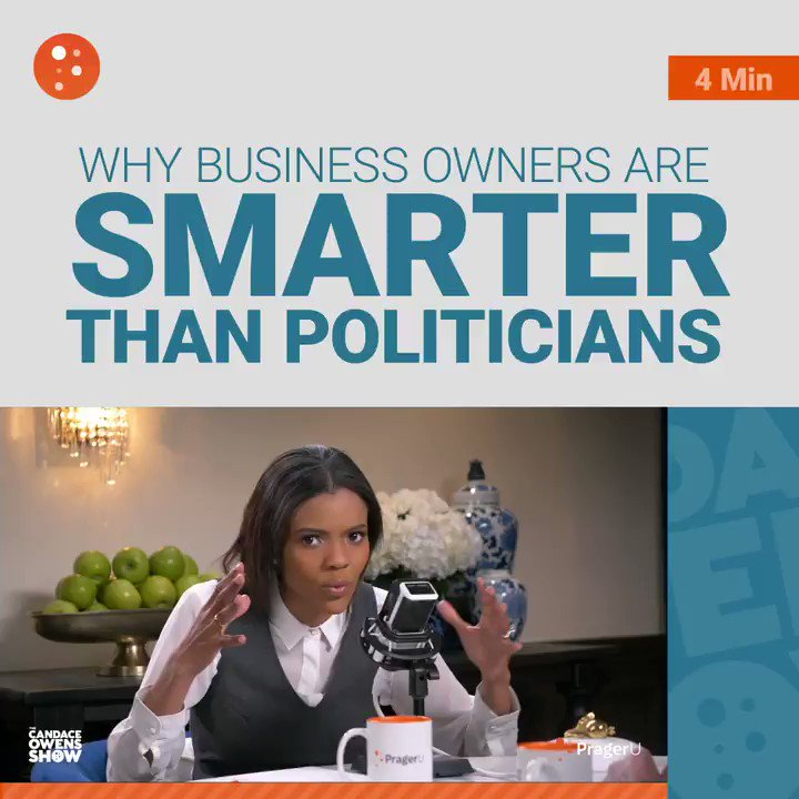 Politicians are out to take money; business owners are out to make money.  The latter requires innovation, adaptability, and efficiency; the former requires nothing but power.  @AdamCarolla @RealCandaceO https://t.co/oCX7UgTqpI