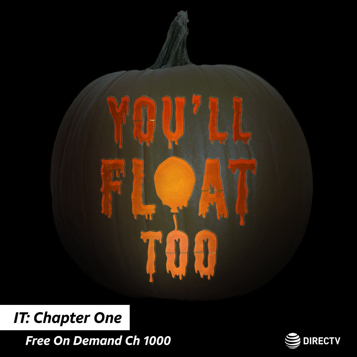 Prepare to face Pennywise 🤡 Watch IT: Chapter One FREE On Demand in our Home-A-Ween folder on Ch 1000 🎈