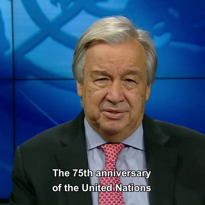 As the UN turns 75, we have one common enemy: #COVID19. Now is the time for a stepped-up push for peace to achieve a global ceasefire. The clock is ticking. un.org/globalceasefire