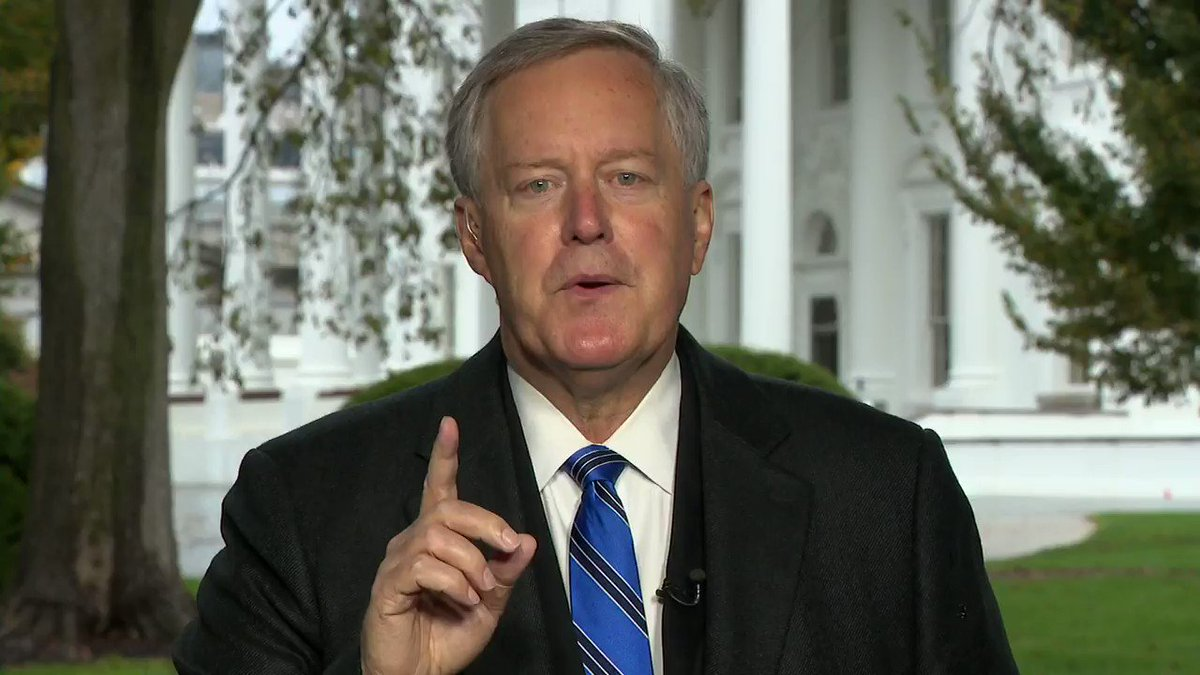 """Chief of Staff Mark Meadows: """"We're not going to control the pandemic."""" https://t.co/AnBXh2HVPM https://t.co/SaCOA2nCYm"""