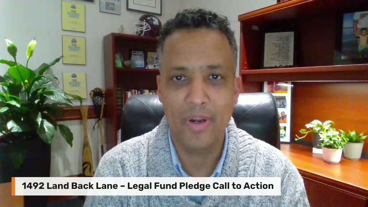 Today I'm pledging $1492 towards the @1492LBL legal defence fund. Join me in supporting #1492LandBackLane: gofundme.com/f/legal-fund-1…