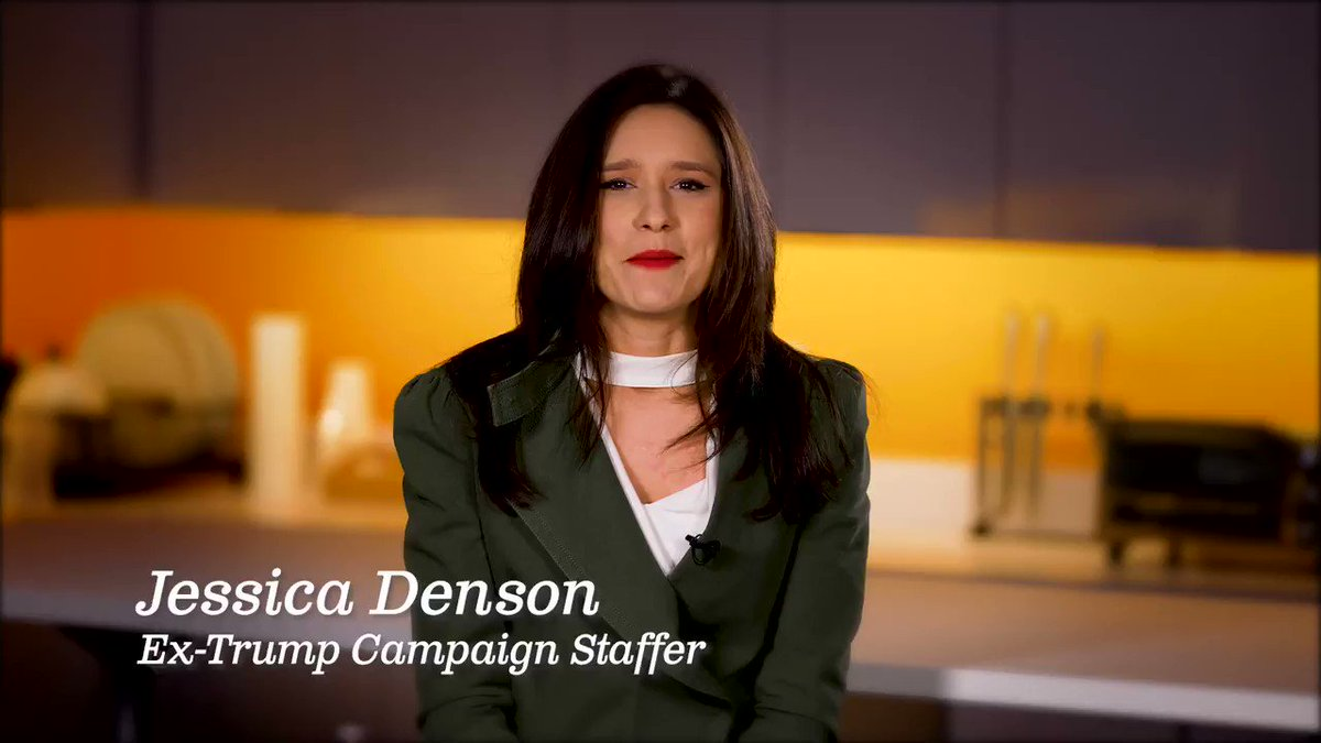 NEW AD: Trump Campaign Leader for Biden @JessicaDenson07 was Trumps 2016 Lead Staffer for Hispanic engagement – now shes speaking out against him. The campaign was a vile, self-serving branding exercise for one man and his family. Airing digitally in swing states.