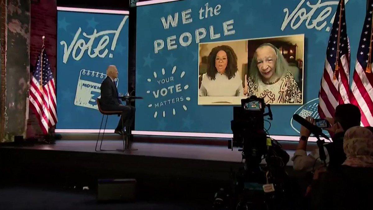 Joe Biden appears as surprise guest on Oprah Winfrey's virtual event aimed at encouraging Black women to vote https://t.co/BHdOn3HbqP