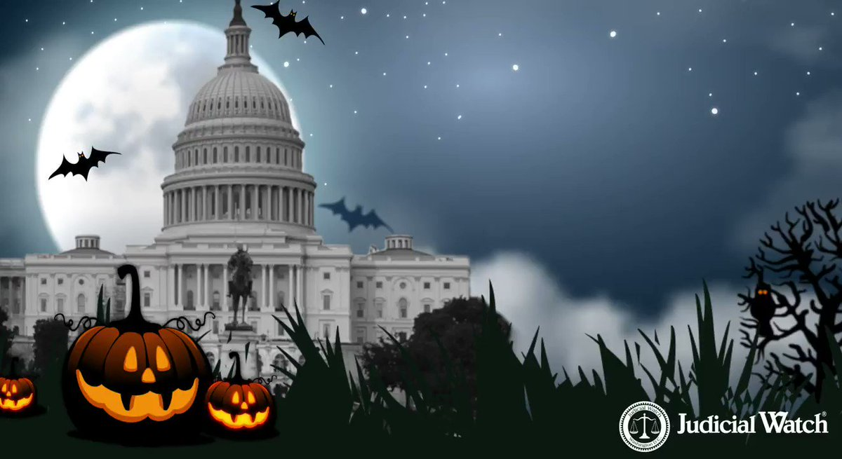 Image for the Tweet beginning: Happy Halloween from Judicial Watch!
