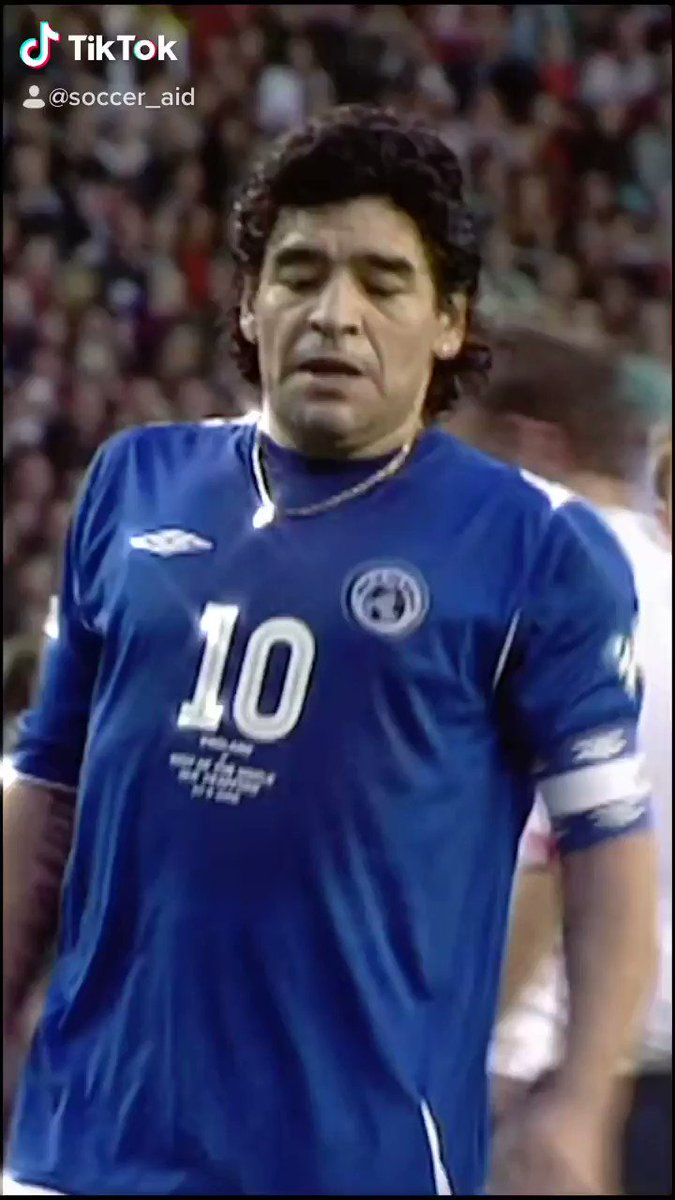 Happy 60th Birthday to the legend Diego Maradona 🇦🇷  Playing and scoring without even tying up your boots at #SoccerAid 2006 is as cool as it gets 😎