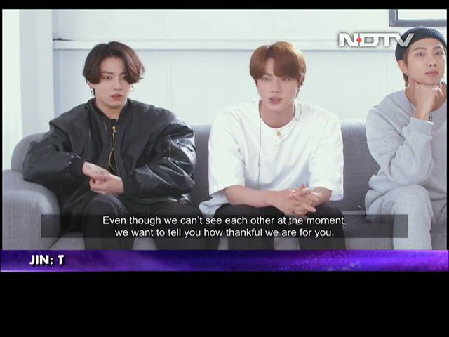 #BTSOnNDTV | Exclusive - We want to dance together, sing together… say namaste in person: @BTS_twt to @NDTV on their Indian fans #WatchBTSOnNDTV @bts_bighit @BTSW_official