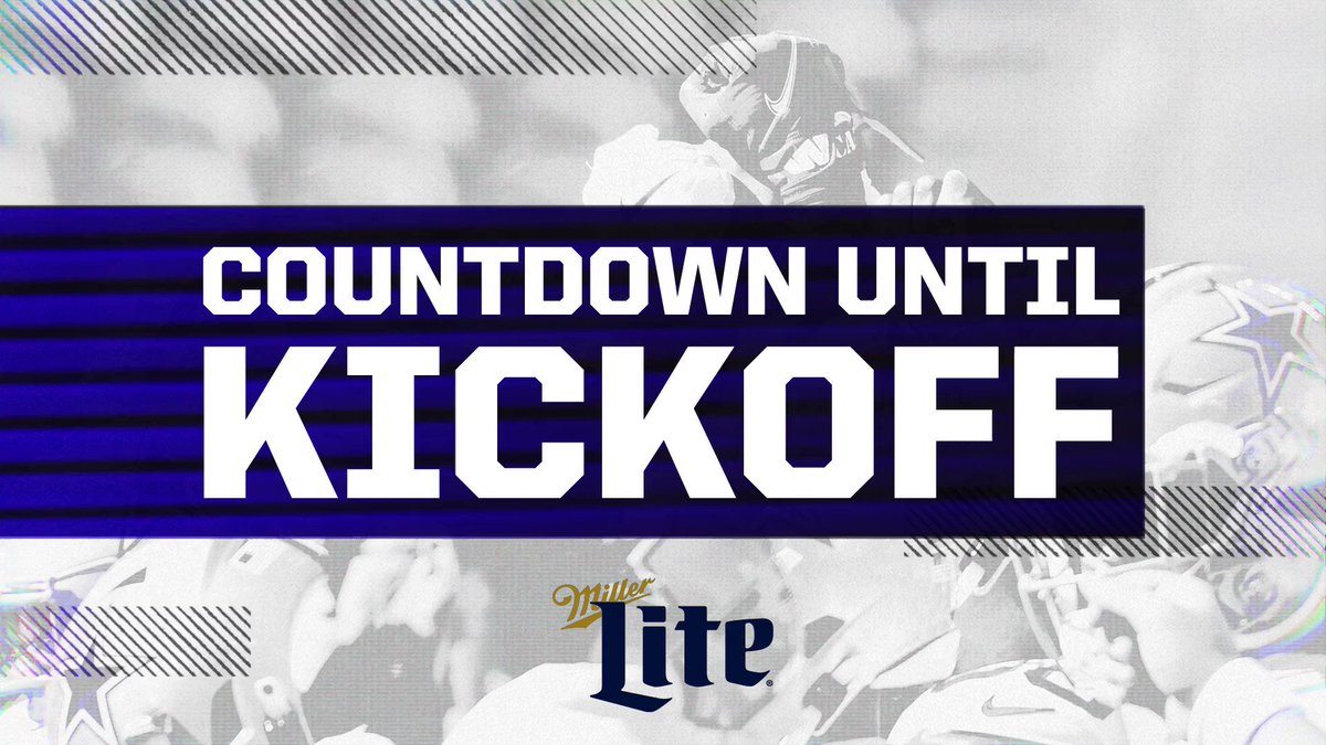 TWO HOURS❕ #PITvsDAL | @Millerlite | #DallasCowboys