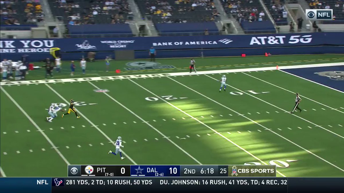 The @DallasCowboys almost pulled off a TD on this return. #DallasCowboys  📺: #PITvsDAL on CBS 📱: NFL app // Yahoo Sports app: https://t.co/LhAplcRHXB https://t.co/Zl7mDbHgRF