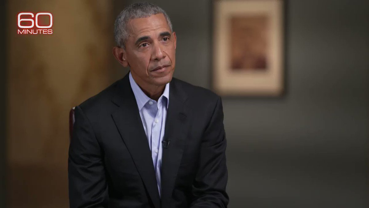 """Barack Obama tells Scott Pelley Republicans who """"go along with"""" the President's claims of election fraud put democracy on """"a dangerous path.""""   The former president appears in his first interview about his new book """"A Promised Land,"""" Sunday on 60 Minutes."""