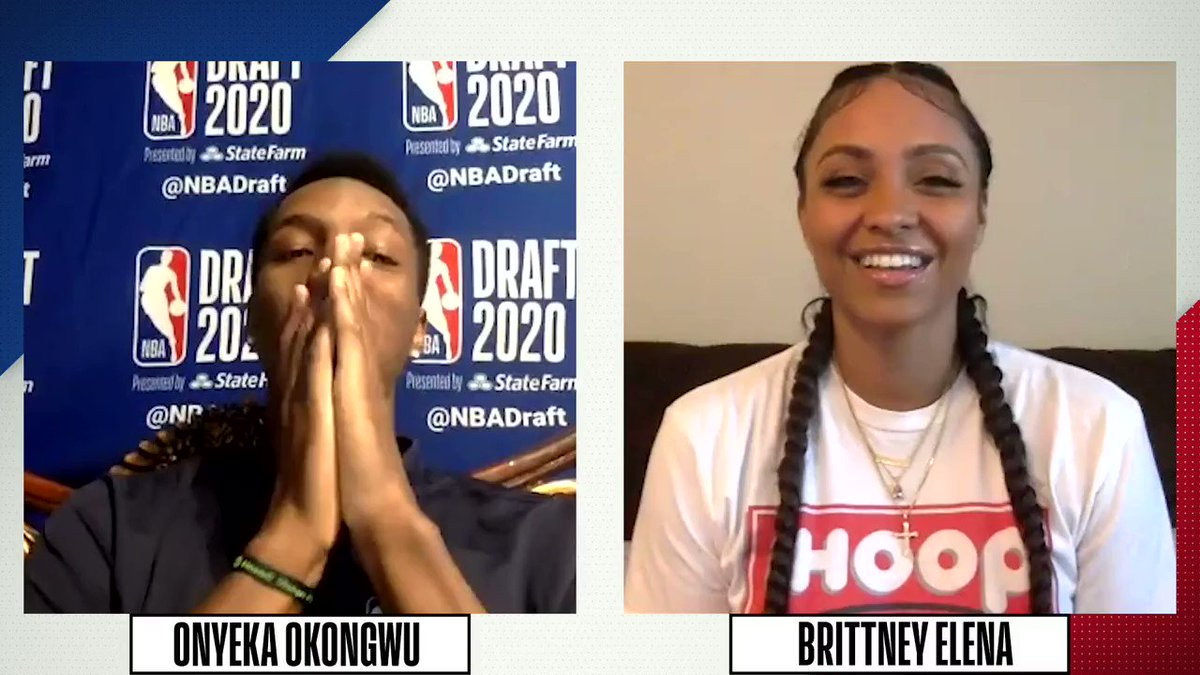 "6'9"" Forward from @USC_Hoops... get to know @ATLHawks' #6 pick Onyeka Okongwu (@BigO21_) as he sits down for 20 questions with @BrittneyElena_! https://t.co/Kq3PjzWSuZ"