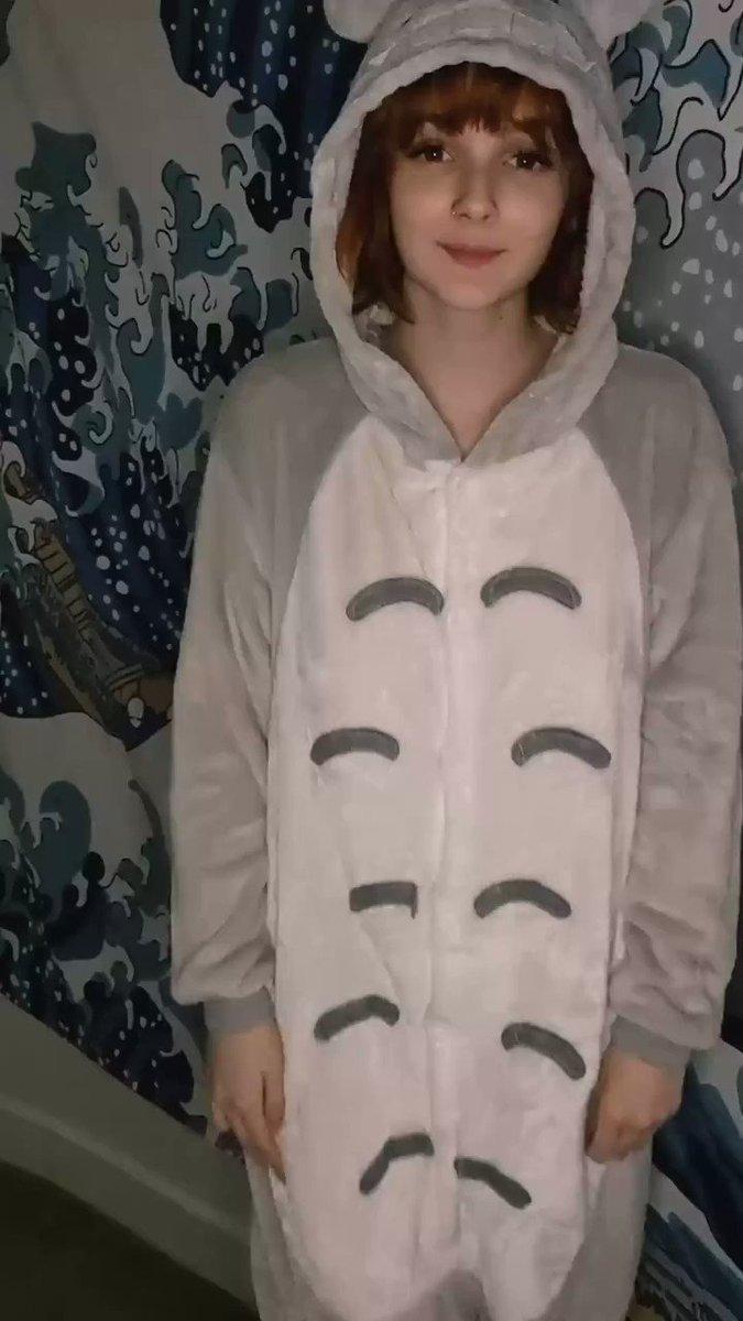 Naked TikTok - My Totoro onesie is too hot