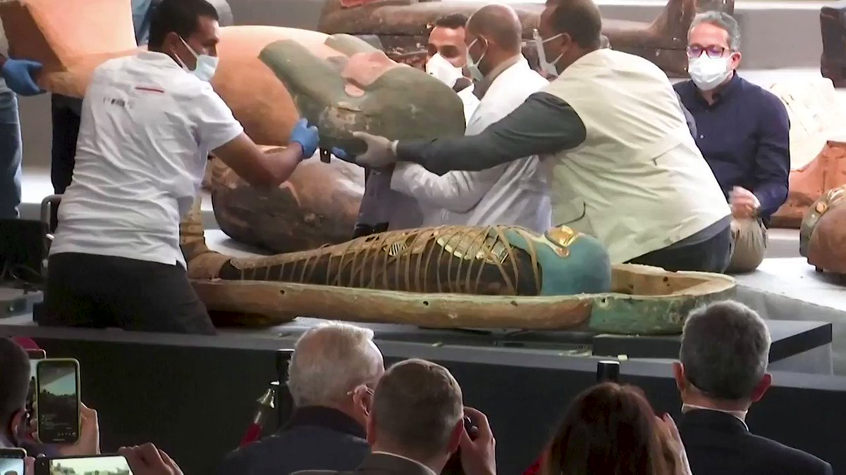 WATCH: Egypt unveils more than 100 coffins dating back 2,500 years, discovered in Saqqara Necropolis https://t.co/qDh2lXvBDB https://t.co/5yFyFOjSBc
